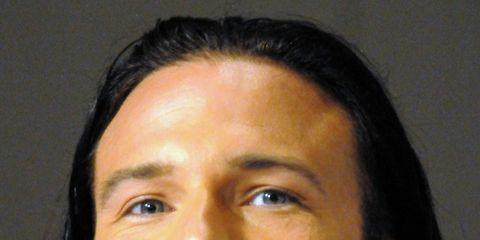 Hair, Face, Head, Ear, Nose, Audio equipment, Lip, Cheek, Facial hair, Eye,