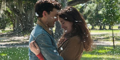 Denim, Jeans, Happy, People in nature, Facial expression, Jacket, Interaction, Romance, Love, Honeymoon,