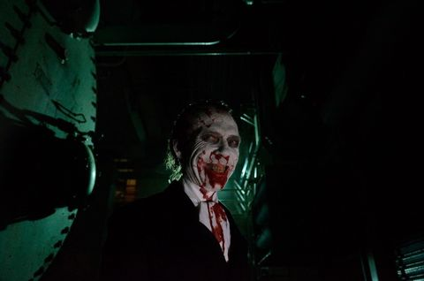 Jaw, Darkness, Fictional character, Zombie, Joker, Fiction, Costume, Acting, Disfigurement, Supervillain,