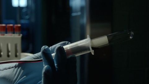 Cable, Cylinder, Safety glove, Science, Hypodermic needle, Transparent material, Medical,