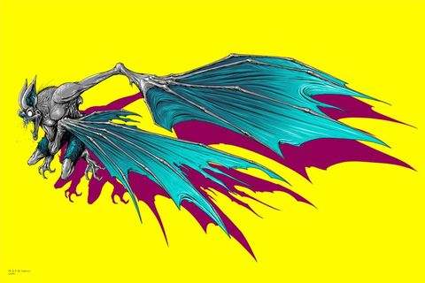 Yellow, Colorfulness, Art, Feather, Wing, Electric blue, Magenta, Graphics, Artwork, Illustration,