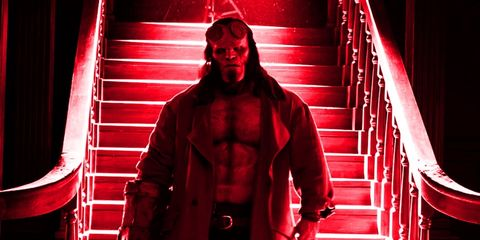 Red, Muscle, Standing, Fictional character, Costume, Performance, Flesh,