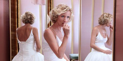 Wedding dress, Gown, Dress, Bride, Photograph, Clothing, Bridal clothing, Bridal party dress, Shoulder, Bridal accessory,
