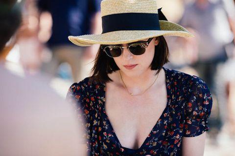 Clothing, Eyewear, Glasses, Vision care, Lip, Hat, Sunglasses, Fashion accessory, Style, Summer,