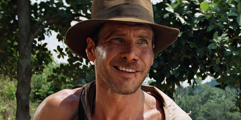 Hat, Lip, Skin, Chin, Facial hair, Chest, People in nature, Muscle, Jaw, Barechested,