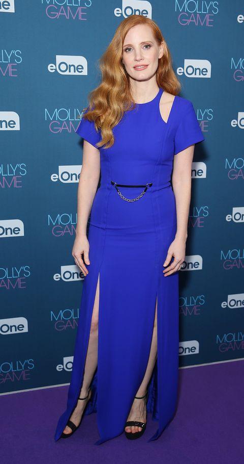 Cobalt blue, Clothing, Hair, Dress, Electric blue, Carpet, Shoulder, Hairstyle, Long hair, Neck,