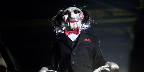 Snout, Mask, Fictional character, Clown, Darkness, Performance, Costume,