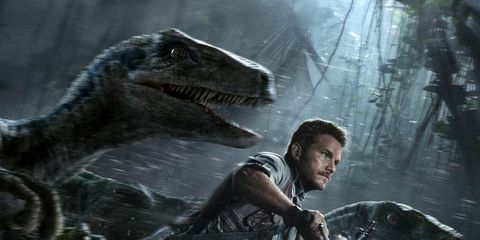 Jaw, Motorcycle, Dinosaur, Extinction, Movie, Cg artwork, Action-adventure game, Fiction, Action film, Fictional character,