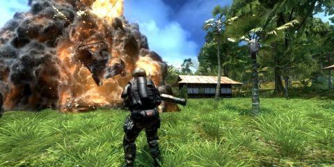 Shooter game, Fire, Games, Action-adventure game, Animation, Pc game, Video game software, Adventure game, Flame, Explosion,
