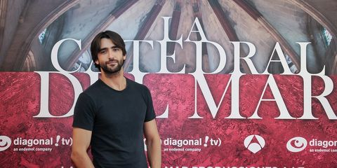 Facial hair, Beard, Font, Denim, Moustache, Maroon, Belt, Poster, Pocket, Graphics,