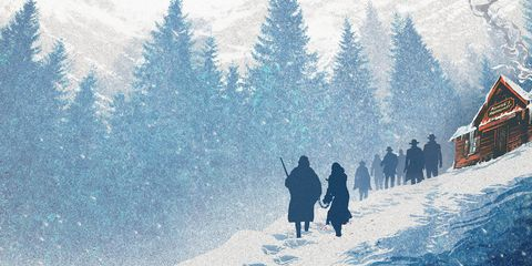 Winter, Snow, Slope, Freezing, Frost, Painting, Ice cap, Conifer, Playing in the snow, Precipitation,