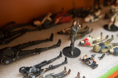 Toy, Scale model, Iron, Collection, Machine gun, Air gun, Shotgun, Trigger, Collectable, Gun barrel,