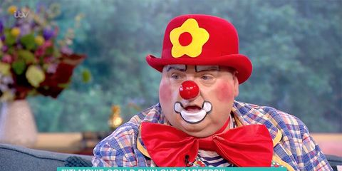 Clown, Entertainment, Performing arts, Nose, Rodeo clown, Smile, Comedy,