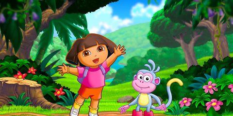 Cartoon, Animated cartoon, Illustration, Organism, Fictional character, Art, Adventure game, Fiction, Animation,