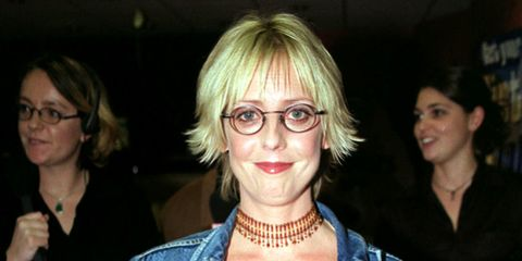 Hair, Eyewear, Glasses, Blond, Fashion, Fun, Event, Vision care, Smile, Party,