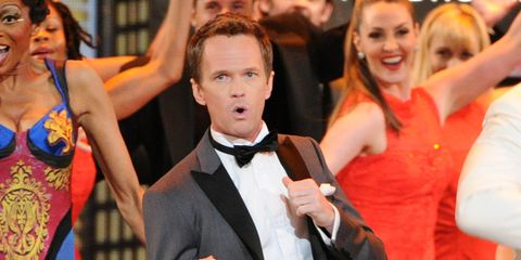 Arm, Event, Formal wear, Performing arts, Bow tie, Dress, Tie, Costume, Public event, Dance,
