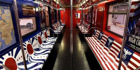 Carmine, Flag, Picture frame, Public transport, Flag of the united states, Games, Train,