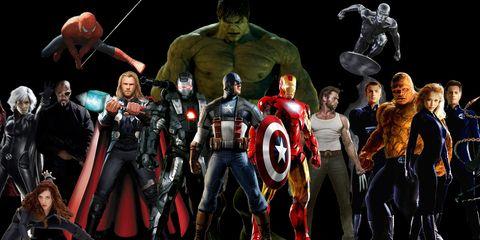Superhero, Fictional character, Musical instrument, Hero, Avengers, Captain america, Thor, Batman, Band plays, Costume,