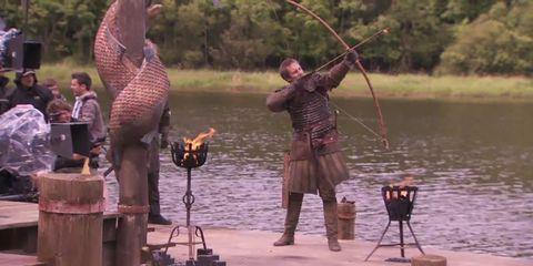 Human, Water, Vertebrate, Outdoor recreation, Fisherman, Lake, Recreational fishing, Fishing, Dinosaur, Fishing rod,