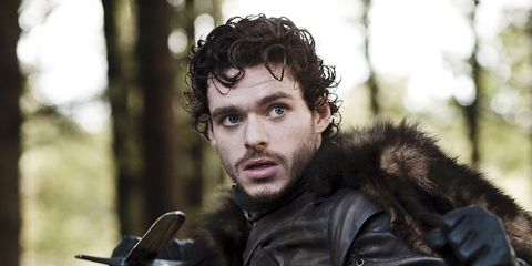 Jacket, Leather jacket, Leather, Fur, Glove, Fictional character, Viking, Facial hair, Action film, Fur clothing,