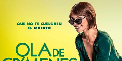 Eyewear, Green, Text, Font, Glasses, Yellow, Sunglasses, Poster, Vision care, Smile,