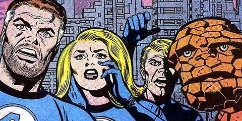Fantastic four, Comics, Fiction, Cartoon, Art, Illustration, Fictional character, Mural, Comic book, Hero,
