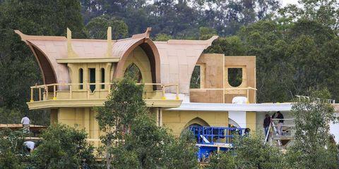 Tree, House, Arch, Hacienda, Balcony,