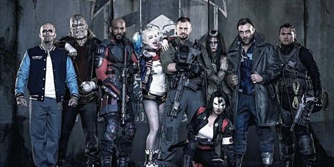 Fictional character, Costume, Crew, Action film, Mask, Boot, Leather, Fiction, Movie, Goth subculture,