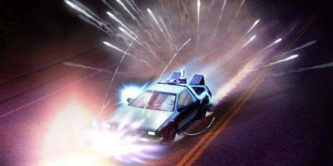 Technology, Space, Windshield, Midnight, Full-size car, Toy vehicle, Smoke, Headlamp, Hood,