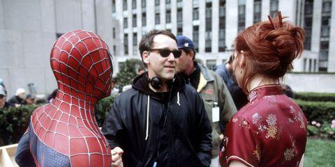 sam raimi y los protagonistas de spiderman