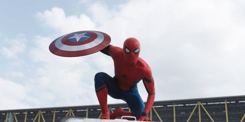 Fictional character, Carmine, Spider-man, Superhero, Shield, Captain america, Avengers, Hero, Nonbuilding structure, Sculpture,