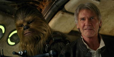 Jacket, Fictional character, Leather, Wrinkle, Leather jacket, Chewbacca, Primate, Movie, Action film,