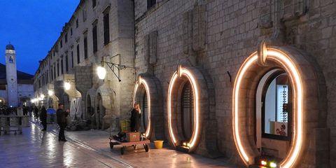 Light, Arch, Lighting, Architecture, Building, Night, City, Evening, Tourism, Arcade,