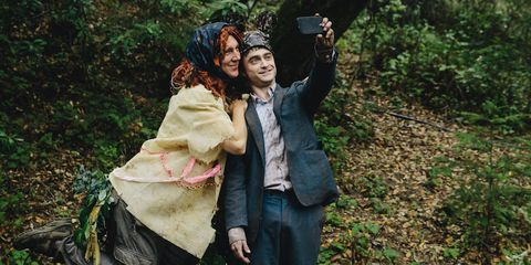 Human, People in nature, Love, Jungle, Headpiece, Costume, Woodland,