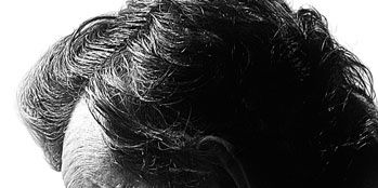 Hairstyle, Chin, Forehead, Style, Jaw, Monochrome photography, Facial hair, Black-and-white, Photography, Monochrome,