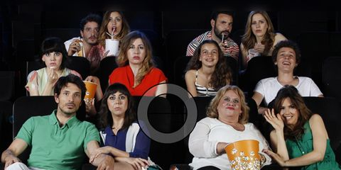 Face, People, Social group, Sitting, Fashion, Youth, Sharing, Friendship, Thigh, Audience,