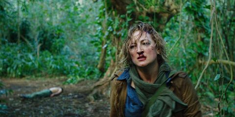 Jacket, Forest, Jungle, Woodland, Rainforest, Scarf, Top, Old-growth forest, Fictional character, Shawl,