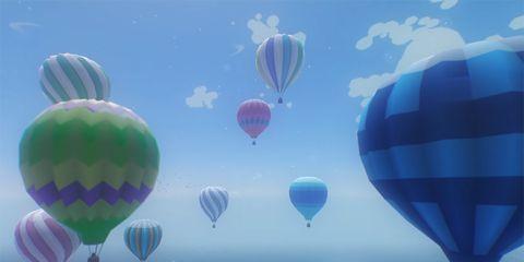 Hot air ballooning, Hot air balloon, Sky, Blue, Cloud, Daytime, Atmosphere, Balloon, Azure, Mode of transport,