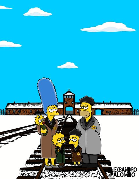 Cartoon, Illustration, Graphics, Painting, Fictional character, Fiction, Rolling stock, Locomotive, Track, Drawing,