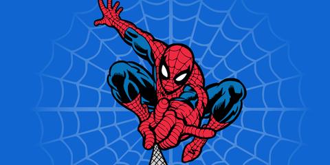 Spider-man, Fictional character, Red, Superhero, Carmine, Electric blue, Pattern, Cartoon, Avengers, Illustration,