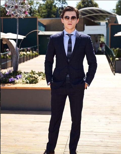 Suit, Clothing, Formal wear, Tuxedo, Blazer, Outerwear, Fashion, White-collar worker, Tie, Pantsuit,