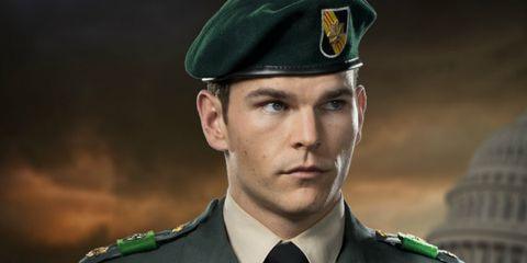 Soldier, Military uniform, Military person, Dress shirt, Collar, Sleeve, Cap, Uniform, Formal wear, Non-commissioned officer,
