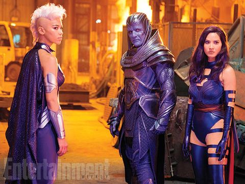 Purple, Latex, Fictional character, Costume, Latex clothing, Costume design, Spandex, Drama, Scene, Superhero,