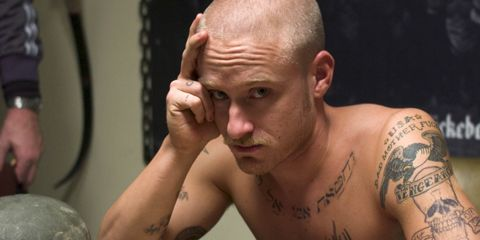Ear, Finger, Cheek, Hairstyle, Skin, Chin, Forehead, Shoulder, Eyebrow, Tattoo,
