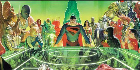 Fictional character, Cartoon, Animation, Illustration, Painting, Superhero, Abdomen, Modern art, Drawing, Hero,