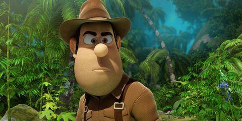 Organism, Hat, Animation, Fictional character, Animated cartoon, Terrestrial plant, Cartoon, Jungle, Tan, Fedora,