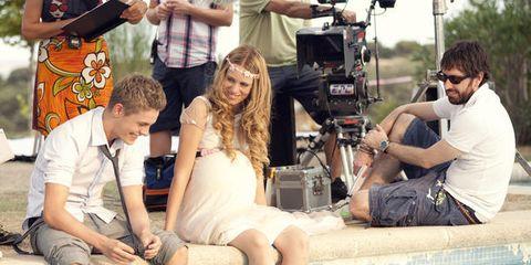 Leg, Television crew, Video camera, Cameras & optics, Camera, Leisure, Camera accessory, Film camera, Filmmaking, Videographer,