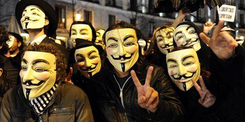 Event, Social group, Mask, Masque, Laugh, Public event, Celebrating, Comedy, Fedora, Humour,