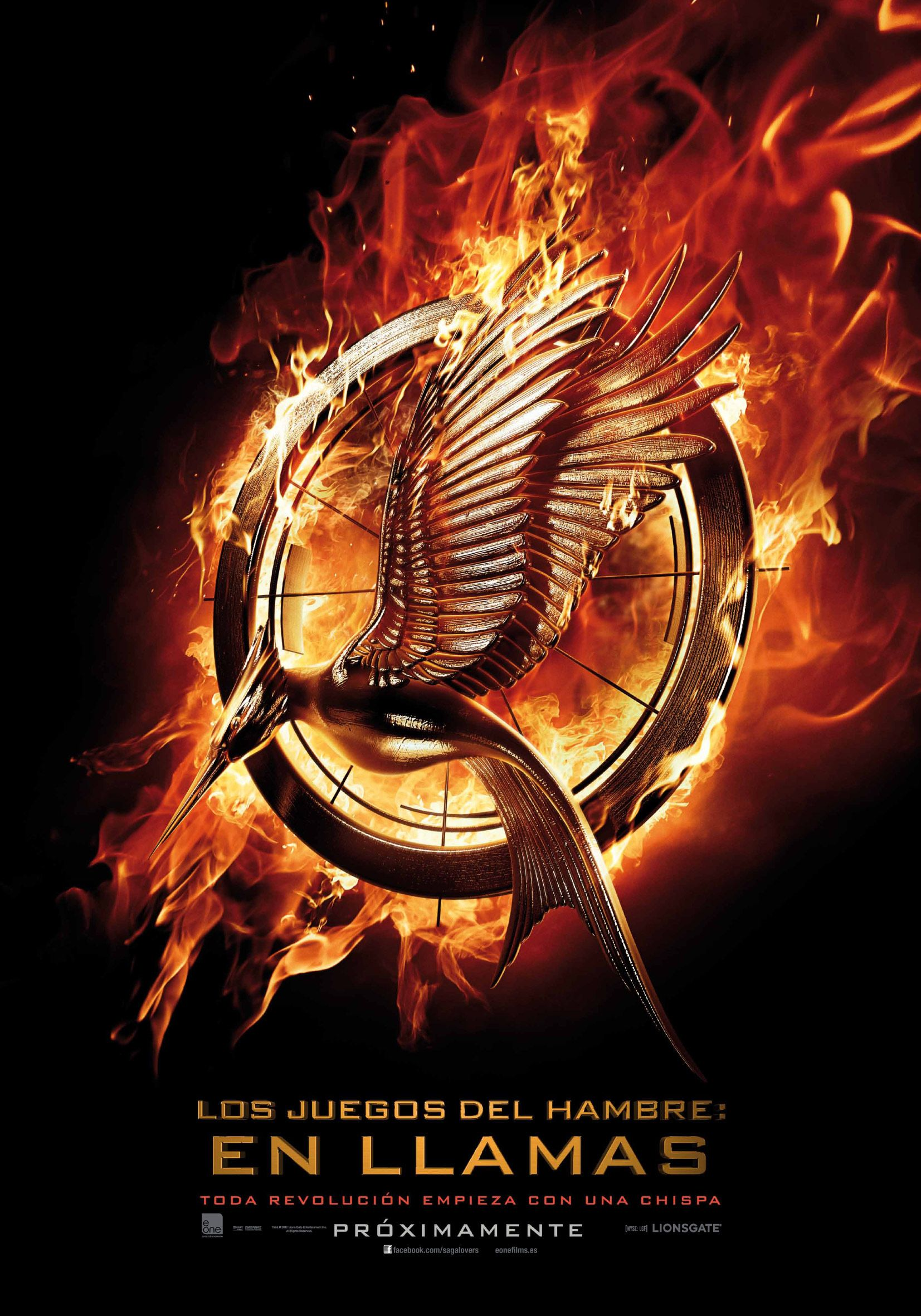 Exclusiva Poster Espanol De Los Juegos Del Hambre En Llamas