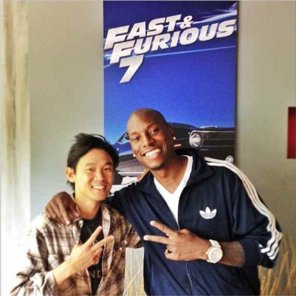 'Fast and Furious 7': Promo Poster con James Wan y Tyrese Gibson